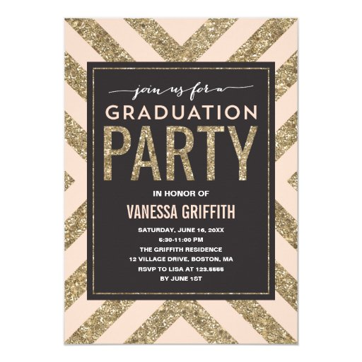 Glamorous Shimmer  | Graduation Party Invitation