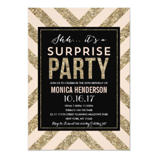 Glamorous Shimmer | Surprise Party Invitation