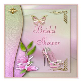 Glamorous Shoes Magnolia & Butterfly Bridal Shower Custom Invitations
