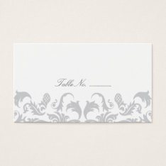 Glamorous Silver Guest Table Escort Cards at Zazzle