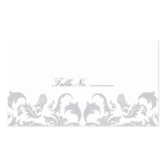 Glamorous Silver Guest Table Escort Cards Business Card