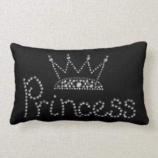 Glamorous Silver Princess Crown Pillow