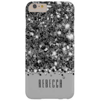 Glamorous Silver Sparkly Glitter Confetti Case Barely There iPhone 6 Plus Case