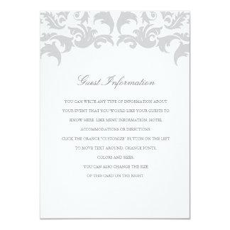 Glamorous Silver Wedding Insert Card