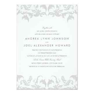 Glamorous Silver Wedding Invitation
