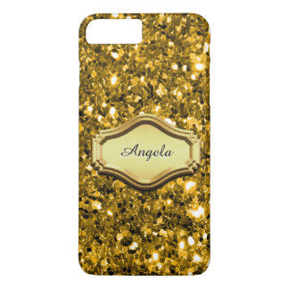 Glamorous Simulated Gold Sparkly Glitter Case