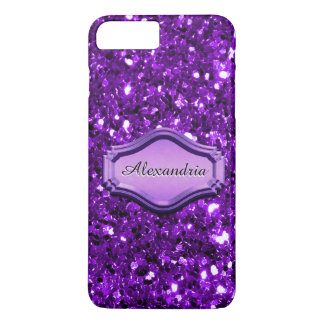 Glamorous Simulated Purple Sparkly Glitter Case