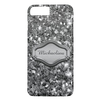 Glamorous Simulated Silver Sparkly Glitter Case