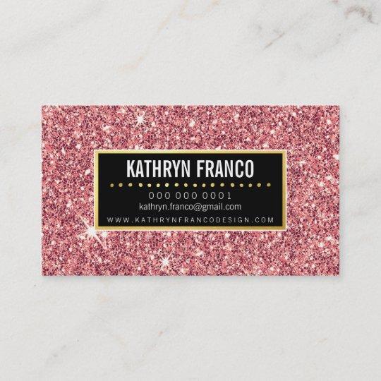 Glamorous sparkle cute stylish gold pink glitter business card glamorous sparkle cute stylish gold pink glitter business card colourmoves