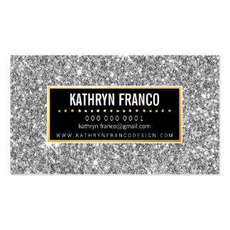 GLAMOROUS SPARKLE cute stylish gold silver glitter Business Card