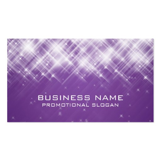 glamorous sparks purple double sided standard business