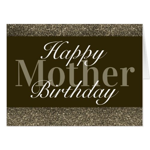 Glamorous special birthday card mother
