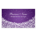 Glamorous Star Sparkle Purple Double-Sided Standard Business Cards (Pack Of 100)
