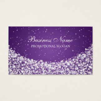 Glamorous Star Sparkle Purple Business Card