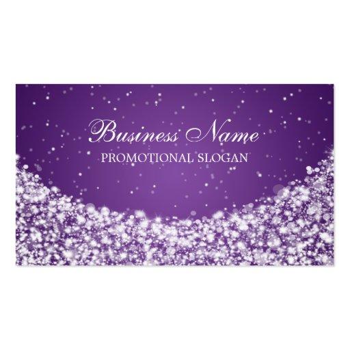 Glamorous Star Sparkle Purple Business Card