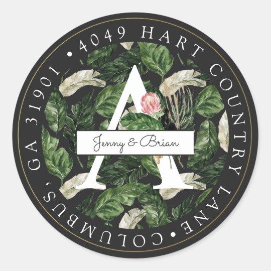 Glamorous Summer Greenery Return Address Sticker
