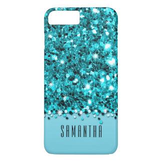 Glamorous Teal Sparkly Glitter Confetti Case