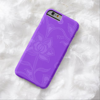Glamorous Vintage Floral Amethyst Purple Barely There iPhone 6 Case
