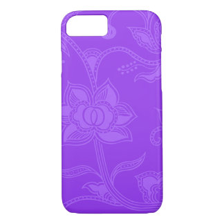 Glamorous Vintage Floral Amethyst Purple iPhone 8/7 Case