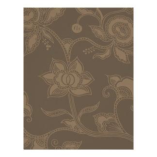 Glamorous Vintage Floral Elegant Coffee Brown Flyer