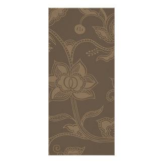 Glamorous Vintage Floral Elegant Coffee Brown Rack Card