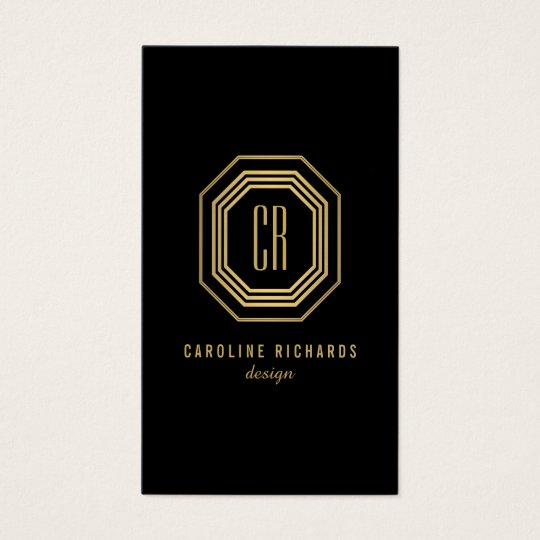 Glamorous vintage gold art deco initials monogram business card glamorous vintage gold art deco initials monogram business card reheart Image collections
