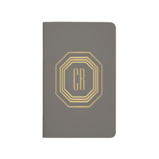 Glamorous Vintage Gold II Art Deco Monogram Journal