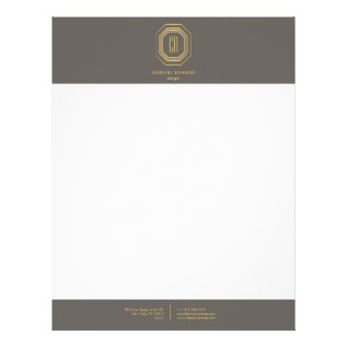 Glamorous Vintage Gold Ii Art Deco Monogram Letterhead at Zazzle