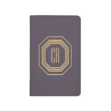 Glamorous Vintage Gold/Purple Art Deco Monogram Journal