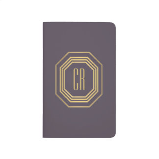 Glamorous Vintage Gold/Purple Art Deco Monogram Journal