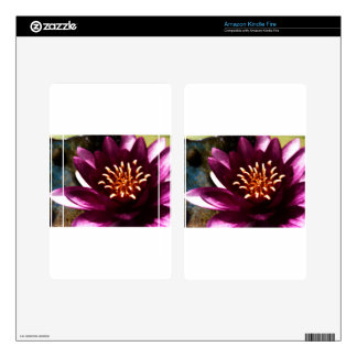Glamorous Water Lily Kindle Fire Decal
