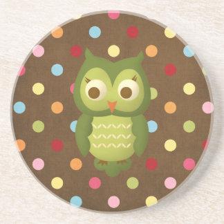 Glamorous Wise Owl Drink Coaster