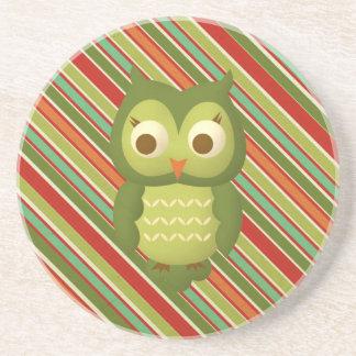 Glamorous Wise Owl Beverage Coaster