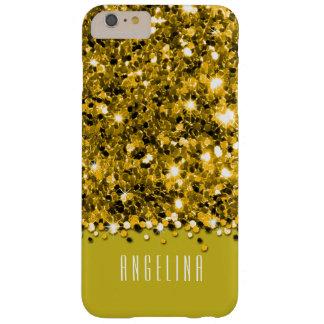Glamorous Yellow Sparkly Glitter Confetti Case Barely There iPhone 6 Plus Case