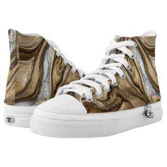 glamour 2 liquid brown colors High-Top sneakers