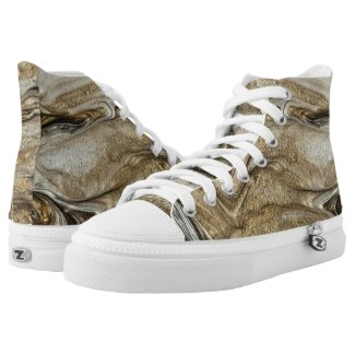 glamour 003 liquid brown colors High-Top sneakers
