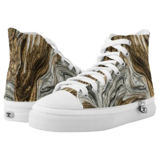 glamour 004 liquid brown colors High-Top sneakers