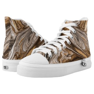 glamour 005 liquid brown colors High-Top sneakers
