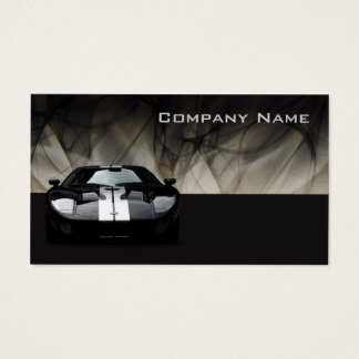 Glamour Black Sports Car Business Card