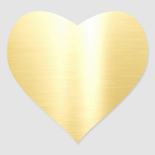 Glamour Blank Template Faux Gold Elegant Classic Heart Sticker