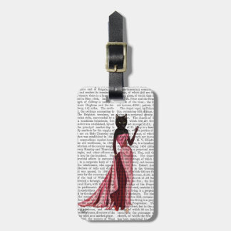 Glamour Cat in Pink 2 Luggage Tag