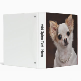Glamour Chihuahua Diva 3 Ring Binder