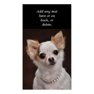 Glamour Chihuahua Diva Business Card Template