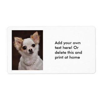 Glamour Chihuahua Diva Custom Shipping Label