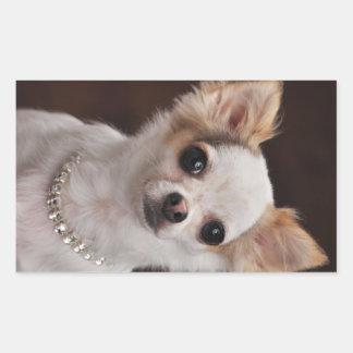 Glamour Chihuahua Diva Rectangular Sticker