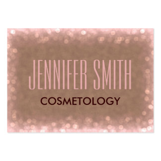 Glamour Cosmetology Hairdresser Salon Appointment Large Business Card