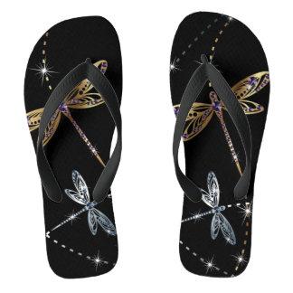 Glamour Diamond Butterfly Flip Flops