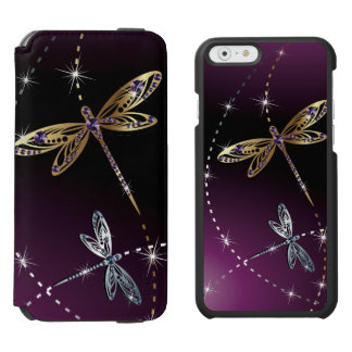 Glamour Diamond Butterfly iPhone 6/6s Wallet Case