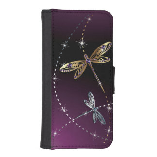Glamour Diamond Butterfly iPhone SE/5/5s Wallet Case