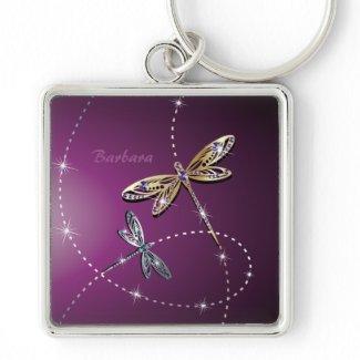 Glamour Diamond Butterfly Keychain keychain
